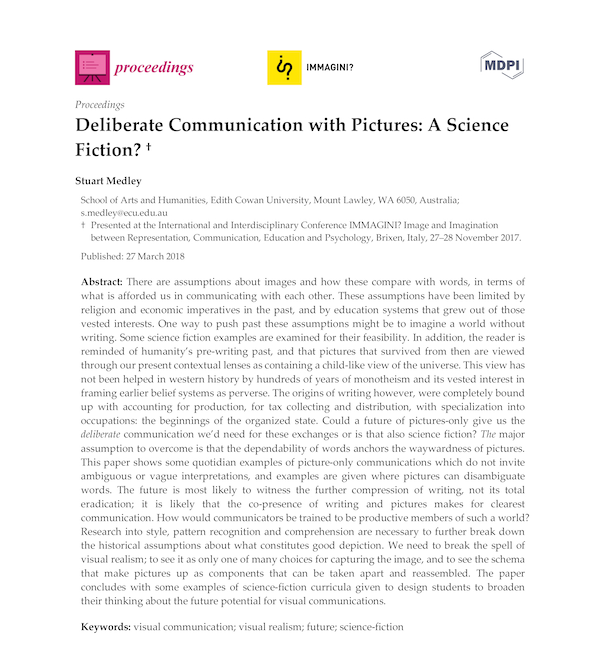 Deliberate Communication with Pictures - A Science Fiction?